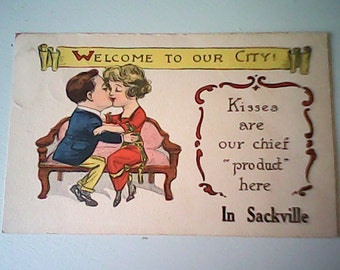 1917   Postcard Sweetheart  T. P. & Co. New York Two Cent Stamp