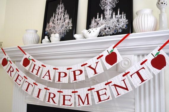 teacher retirement banner happy retirement sign congrats