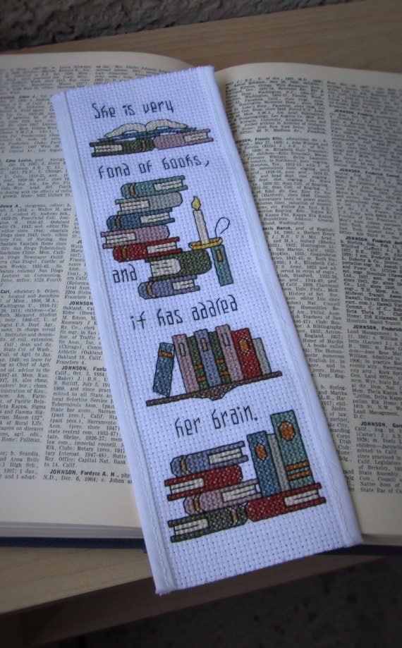 Basket Weaving Supplies Eugene Oregon : Cross stitch pattern addled her brain bookmark for