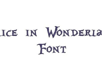 Alice in WonderLandFont A-Z and 0 -9 Embroidery Design Now Come with .BX Ready Font!