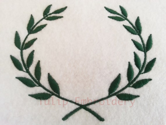 Olive leaf embroidery design