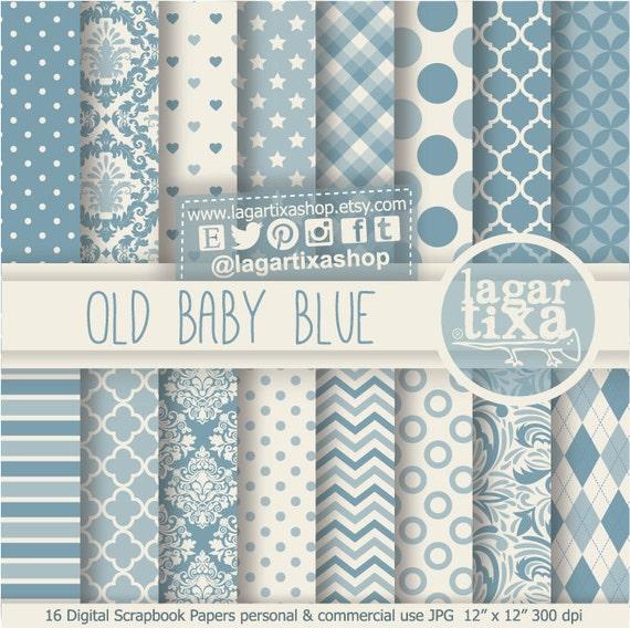 num rique papier peint bleu b b bleu vintage ancien antique. Black Bedroom Furniture Sets. Home Design Ideas