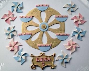 Vintage Carnival Theme Cake Decorations