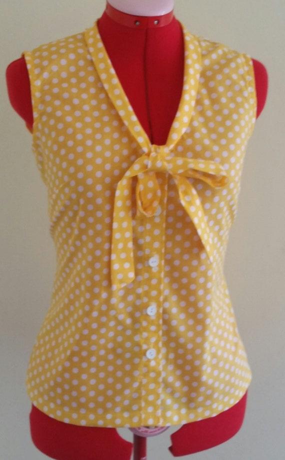 Yellow Polka Dot Blouse 73