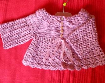 Baby pink wool jacket
