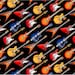 Musical Instruments Guitar Fabric by the yard/ Elizabeth Studio fabric for Quilting/ Apparel/ Home Decor accents