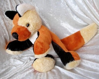Stuffed Animal FOX plush handmade ooak, plush fox soft toy, fox home decor handmade unique fox forest critters plush fox decor MADE to ORDER