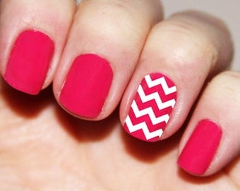 Chevron Fingernail Stickers - Chevron Nail Decals
