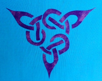 Easy Celtic Knot Triangle Quilt Applique Pattern Design