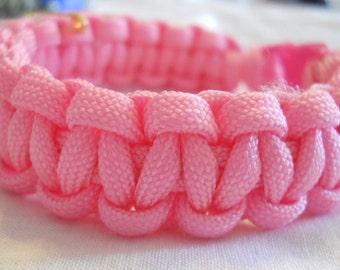 Pink 7 Inch Paracord Bracelet Item #103