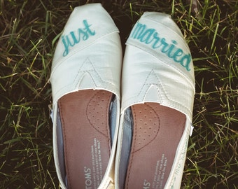 "Toms ""Just Married"" shoes"