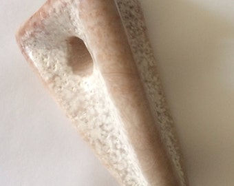 Pink and White Alabaster Abstract Stone Sculpture