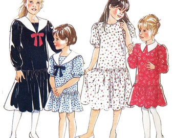 Simplicity Sewing Pattern 6474 Child's Dress  Size :  Eight sizes in one  Ages 3 - 9  Uncut