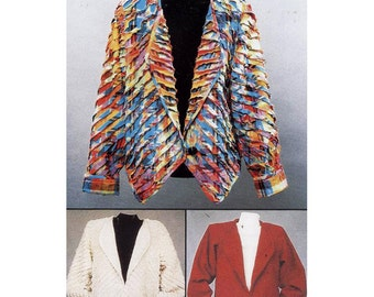 light JacCNT Pattern Co. Shear Delight Jacket by Karen Nye #101 Shear Delight Use 3 - 7 layers of rayon for this jacket.  Size:  8-22  Uncut