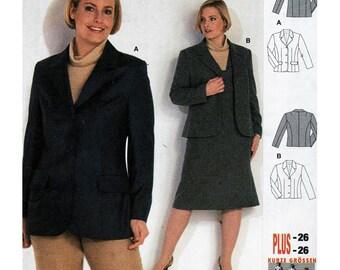 Burda Sewing Pattern 8726 Jacket  Size:  12-26  Uncut