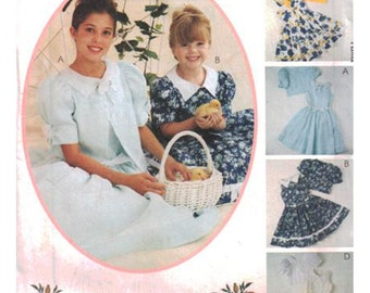 McCall's Sewing Pattern 9252 Girl's jacket, dress with attached petticoat  Size:  CD  2-3-4  Uncut