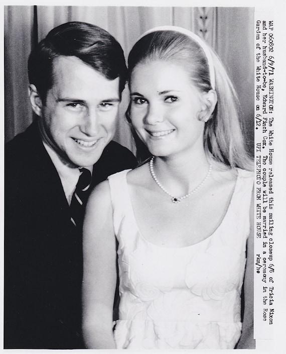 Tricia Nixon Wedding: Vintage Original Photograph Tricia Nixon Edward Cox By