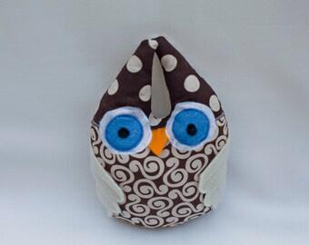 Brown and Cream Stuffed Owl