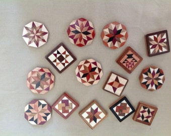 Wood Quilt pins, 3 pack