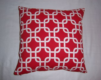 Premier Print PILLOW COVER, Lipstick Red,  18 x 18