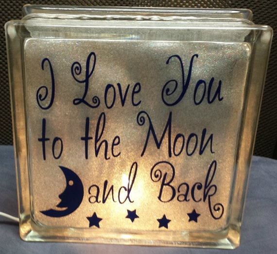 """I Love You Quotes: Items Similar To 8"""" I Love You To The Moon And Back"""