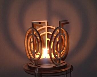 Reiki tea light candle holder projector, Cho Ku Rei power symbol