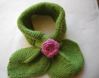 Flower neck warmer scarf