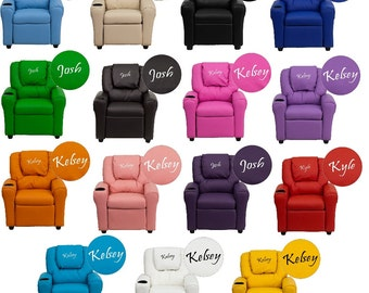 Kids Personalized Recliner Arm Chairs- Embroidered Chairs  sc 1 st  Etsy & Kids | Etsy islam-shia.org