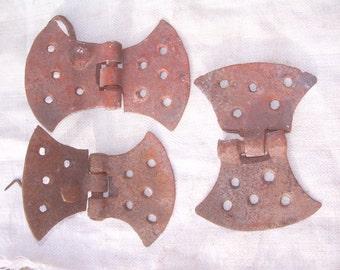4 Forge HINGES, antique hinges, old hinges