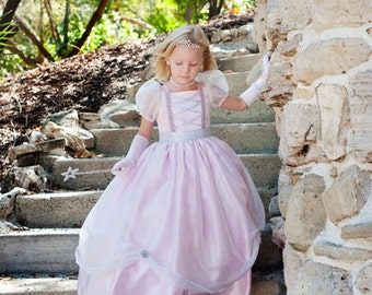 "Fairy Princess Dress 5pc Set and Free Matching 18"" doll Dress Special"