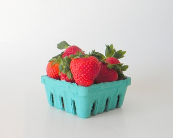 24 qty. 1/2 Pint Berry Baskets, Biodegradable Paper Pulp Basket, Wedding Favor Basket, Farm Theme Party Favor, Spring Favor Basket