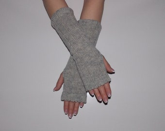 Eco Friendly Knit Arm Warmers, Fingerless Gloves, Knitted Mittens.