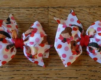 Ladybug Pigtail Bow Set