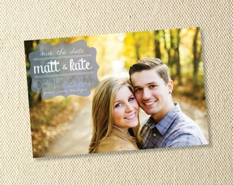 Printable Retro Save The Date Postcard