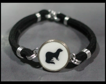 FERRET Silhouette Dime Stretch Bracelet - One size fits most - Made In USA