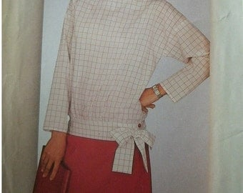 Misses Top and Skirt Size 8-10-12 See & Sew by Butterick Pattern 5414 Vintage 1985 UNCUT Pattern Easy to sew.