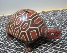 Reduced Canelo Pottery Turtle Bank of Ecuadorian Amazon