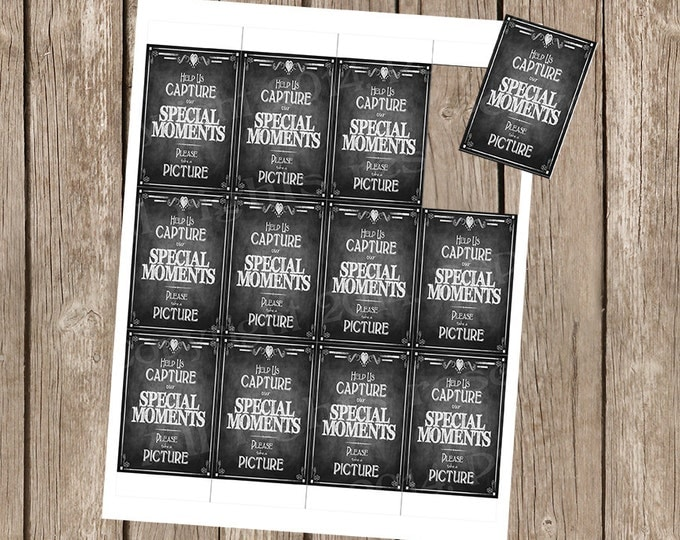 Instant Camera or photo booth Wedding Sign - Help us Capture our Special Moments, Please take a picture - DIY - Rustic Collection