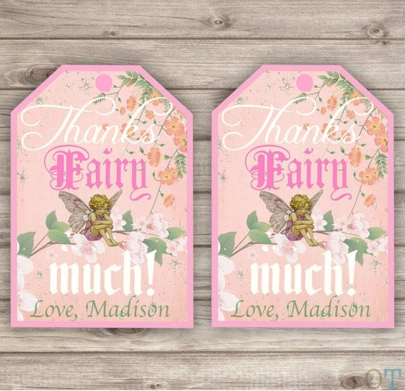 Items Similar To FAIRY Thank You Tags GARDEN Butterfly