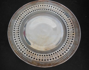 """Vintage EGW&S Silverplate Serving Plate/Tray 10"""""""