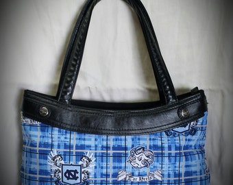 Plaid Carolina Tar Heels Purse Skirt ONLY for Old Style Thirty-One Skirt Purse