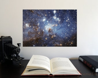 """Star-Forming Region LH 95 19"""" x 13"""" Poster - Science Astronomy Wall Art Print- Window on the Universe series"""