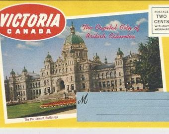 Vintage Victoria Canada Photo Folder