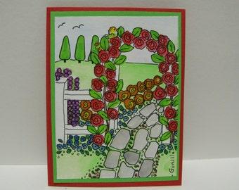 Rose Arbor Card