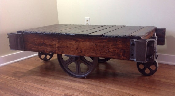 1sold On Reserve Warehouse Cart Coffee Table