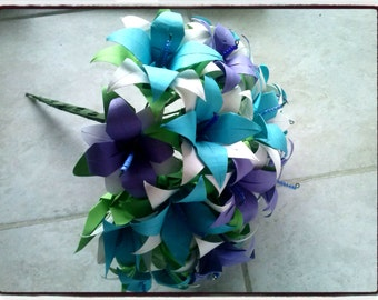 Paper Bouquet Blue&Violet