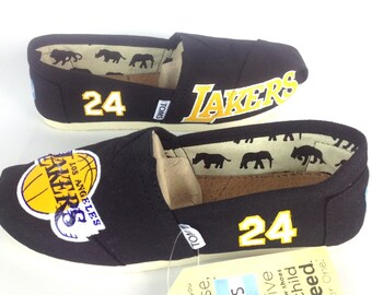 Customized Los Angeles Lakers 24 TOMS