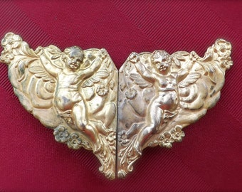 Vintage Brass Cherub Buckle_Country Cottage Cherub Buckle