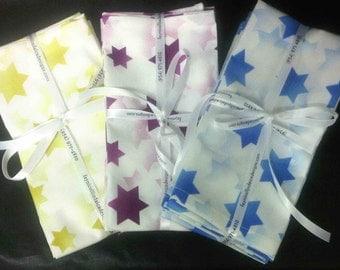 Jewish Napkins - Tossed Stars Fabric (4pk)