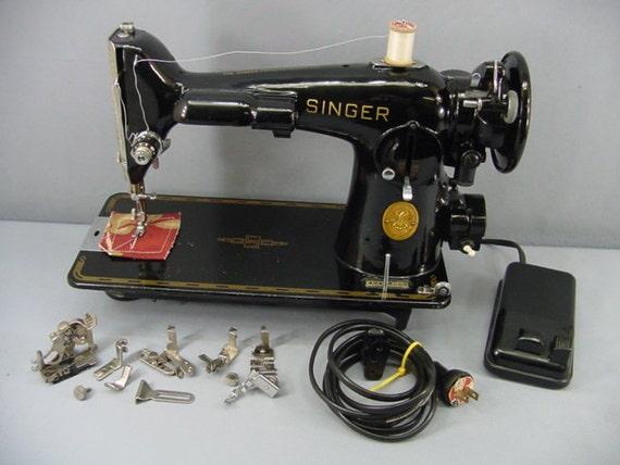 Singer 201 Sewing Machine Vintage C 1948 Sharp Decals